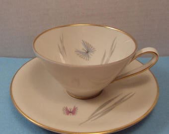 ON SALE Alka Bavaria Mid Century Butterfly Teacup & Saucer