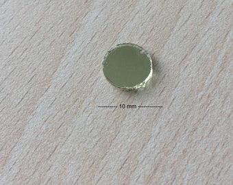 mirror shisha sewing disc size 10 mm gold