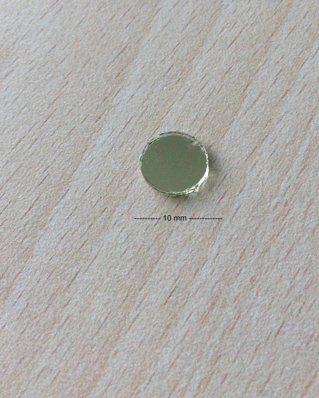 Miroir shisha coudre disque taille 10 mm dor for Disque en miroir