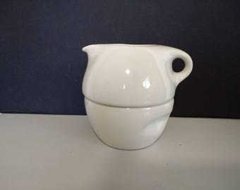 Russel Wright - Iroquois Casual - Dinnerware - Stacking Creamer & Sugar - Sugar White - Mid-Century Modern - MCM