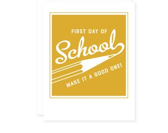 Back to School, First Day of School Card, Take a photo Card Sign, Kids, Students Greeting Cards, Single Card