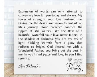 Dad * Grandad Poem Ceramic Plaque. Personalised Gift. Birthday, Christmas, Wedding Day, Father's Day