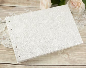 4 x 6 Wedding Album, Small Photo Album, Wedding Photo Album, Brag Book, White Wedding Album, Photo Book, 4 x 6 album, Gifts Under 30
