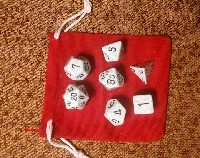 Arctic Wind - 7 Die Polyhedral Set with Pouch