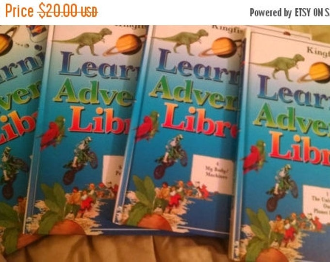 Retrocon Sale - Kingfisher Learning Adventure Library four volumes kids learning
