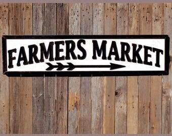 Farmers Market Sign Farmhouse Chic Sign Farmhouse Kitchen Farmhouse Sign Farmhouse Sign Farmhouse Style Kitchen Wooden Sign READY TO SHIP