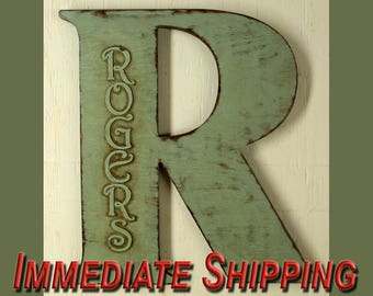"""18"""" Extra Large Letter Wall Decor Wooden Letter Big Letter Personalized Large Letters 18"""" Wedding Letter Extra Large Letter READY TO SHIP"""