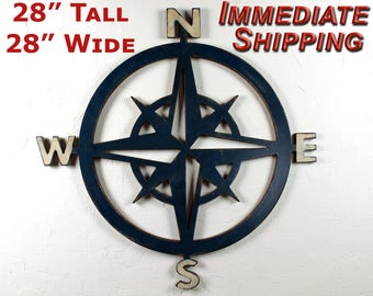 Nautical Compass Compass Rose Decor Nautical Nursery Nautical Baby Shower Ocean Wall Art Decor Nautical Wedding Coastal Wall Art Beach Decor