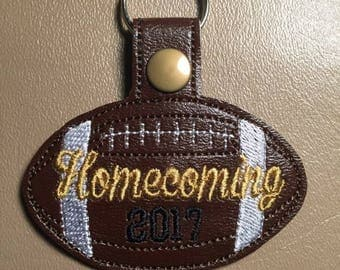 Homecoming 2017 - Football - In The Hoop - Snap/Rivet Key Fob - DIGITAL Embroidery Design