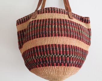 Vintage Sisal Woven Shoulder Market Straw Purse Bag