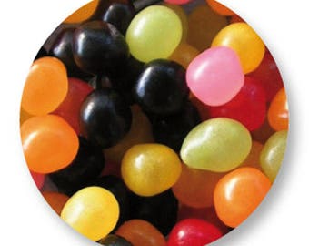 X 1 candy Jellybeans metal 25mm Cabochon