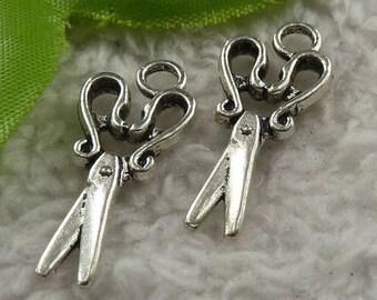 Silver scissors 2 X 28mm Tibetan