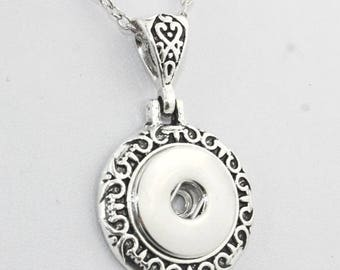 For snap round necklace