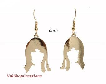 Wife Circonférence goldtone earrings