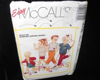 Toddler Cardigan Top Pants Shorts McCalls 4710 Childrens Sizes 3 4 Cardigans Tops Pant Short Vintage