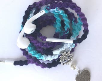 Apple iPhone 6 Custom Headphones Apple EarPods, Wrapped Tangle Free Earbuds, Unique Gift for Back to School College Student