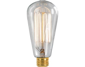 Antique replica of a Thomas A Edison style light bulb