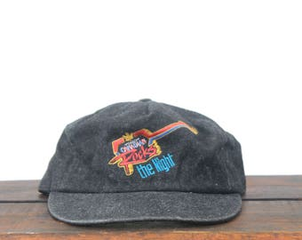 Vintage 90's Molson Canadian Beer Rocks The Night Music Guitar Concert Unstructured Snapback Hat Baseball Cap