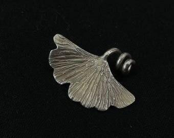 Gyngko Leaf Silver Pendant