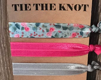 Tie the knot bridal shower favor