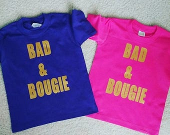 """SUMMERSALE Girls """"Bad and Bougie"""" Top - Perfect for the DIVA in your life!"""