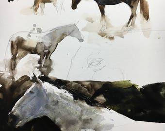 "1153 original watercolor 9x12"". Unframed."