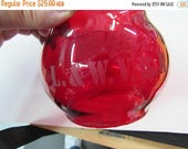 Lackawanna and Wyoming Valley R/R - L&WV RR -  Red Etched  Glass Railroad Lantern Globe
