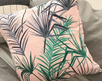 Tropical leaf Cushion - Duck feather filled