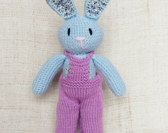 Tall bunny in dungarees