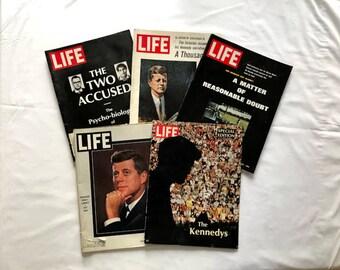 Life Magazine, JFK Assassination on Life Magazine, Robert Kennedy Murdered shown in Life Magazine, Kennedy Family Photos