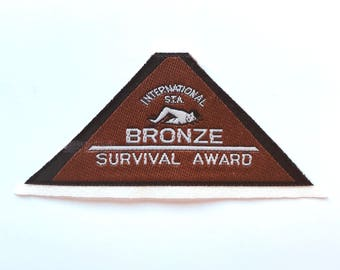 Swimming Bronze Survival Award Patch