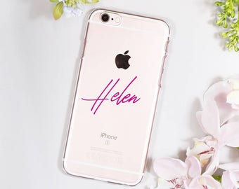 Typography iPhone Case For Her - Personalised iPhone Case - Birthday Gift for her - Personalised iphone case - Clear  iPhone case