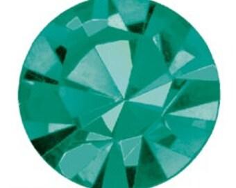 blue zircon flatback crystals/rhinestones - one gross