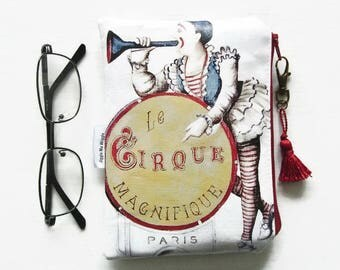 Waterproof pouch Vintage Circus Crochet/Tampon/Makeup Bag/Glasses case