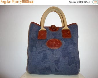 The SALE Is On SALE Beautiful Vintage Navy Blue Tapestry Tote