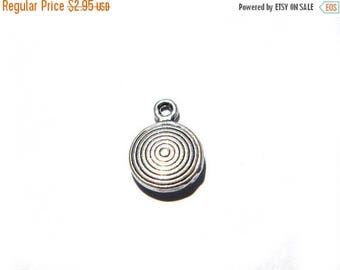 HALF PRICE 10 Silver Concentric Circle Charms