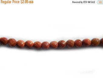 HALF PRICE 45 4mm Faceted Goldstone Beads