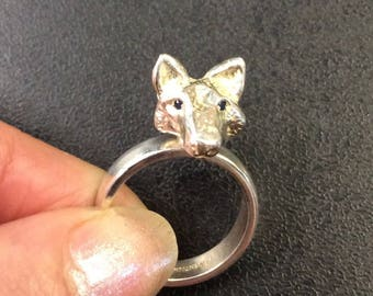 Silver fox ring