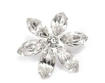 Rhinestone Crystal diamond 20 mm flower shape button