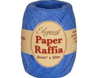 8 mm blue raffia Ribbon