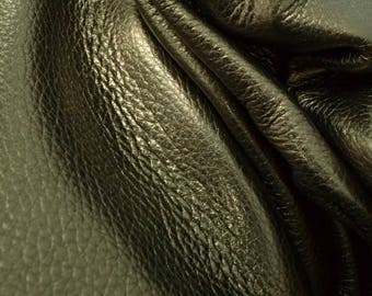 "Just My Luck Pewter Metallic ""Vegas"" Leather Cow Hide 12"" x 12"" Pre-Cut  3 ounces TA-60060 (Sec. 8,Shelf 4,C)"