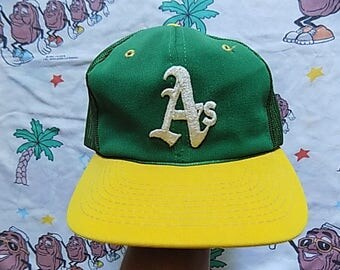 Vintage 80's Oakland A's Trucker Hat, Adult Size mesh snapback Athletics MLB Sports Specialties