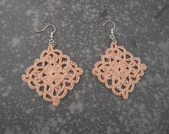 Pink salmon earrings