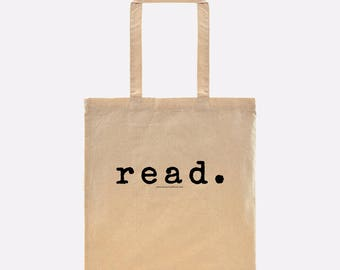 read. book tote makes the perfect bookish gift for librarians, students, moms, avid readers, authors, writers, & more!