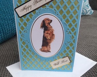 Handmade Puppy Birthday Card