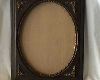 M006 Faux wood picture oval picture frame wall or table top 8x10, 2lbs