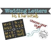 Wedding Letters, His and ...