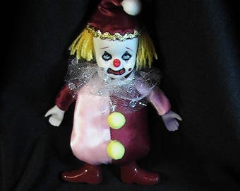 Horror Clown Doll, Haunted House Clown, Scary Clown, Evil Clown, Creepy Clown, Haunted Clown, OOAK