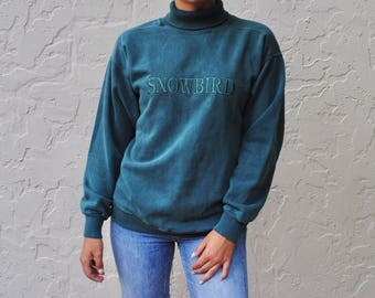 Snowbird Teal Retro Sweatshirt