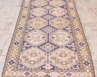 Turkish Kilim Rug 47''x76'' Oriental Rug Vintage Area Rug Anatolian Wool Kilim